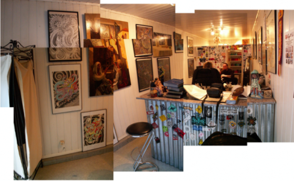 The Shop. Some pictures of Missin'Ink Tattoo shop in Bergerac (Dordogne,